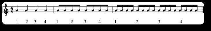 semicorchea ejemplo 1