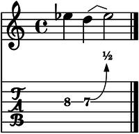 Bend medio tono cuerda 3