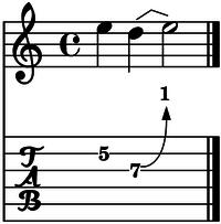 Bend cuerda 3 un tono