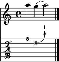 bend cuerda 2 un tono