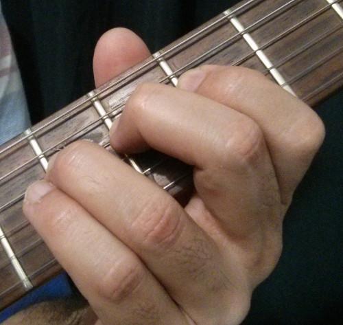 Posicion del pulgar al hacer bend