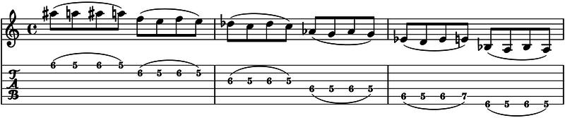 ligados en la guitarra trills trinos