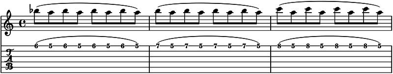 como tocar ligados en la guitarra