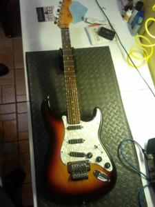 ¡Mi guitarra lista para rockear!