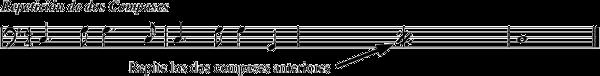 ejemplo repeticion dos compases