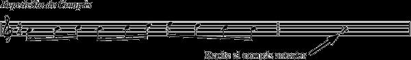 ejemplo de repeticion de compas