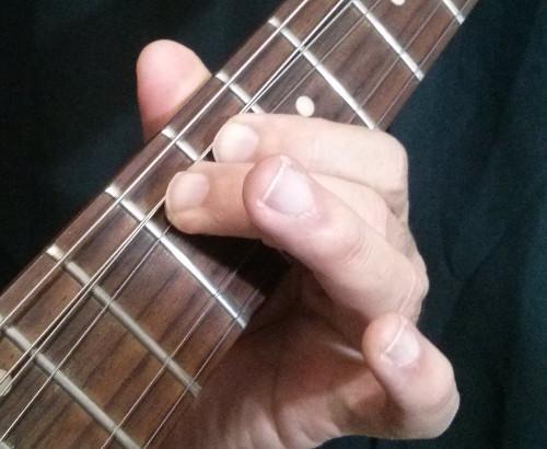 Bend dedo 2 apoya con el dedo 1