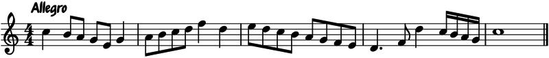 Tempo: Allegro