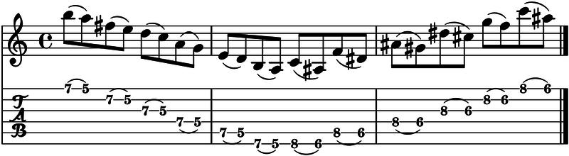 como hacer ligados en la guitarra
