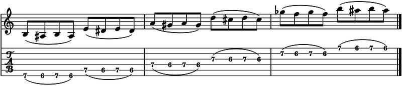 ligados en la guitarra trills