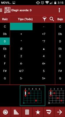 SmartChord diccionario de acordes